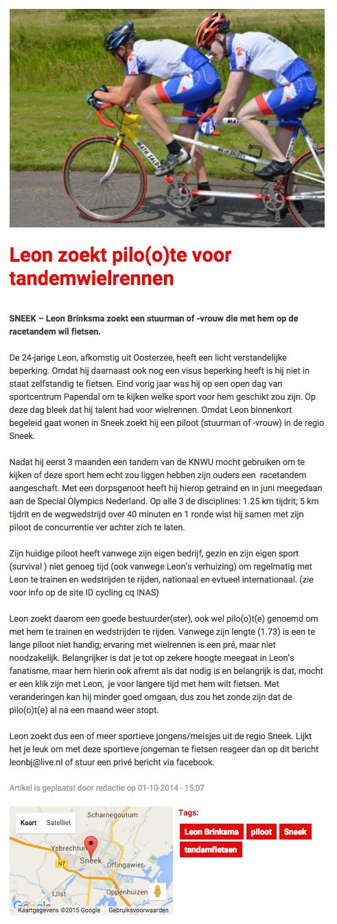 snekernieuwsblad 01-10-2014